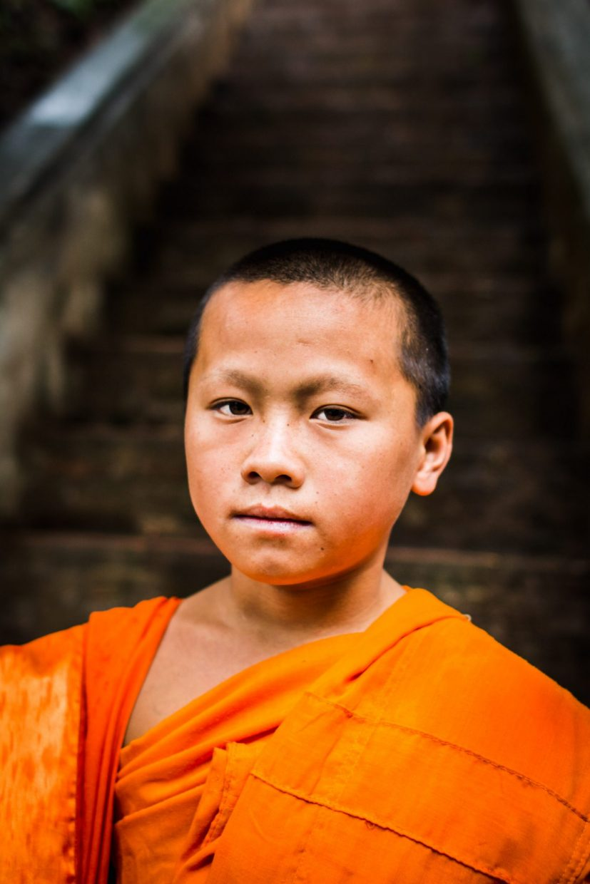 Monk form Laos