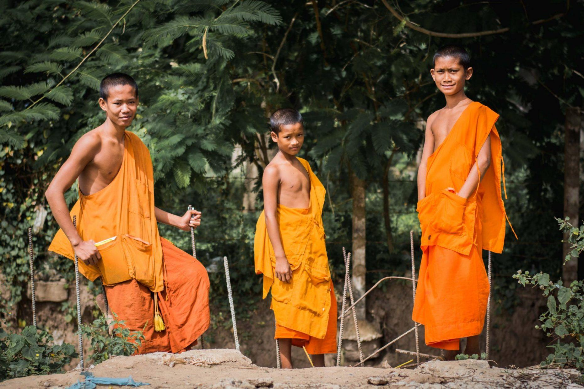Monk form Laos