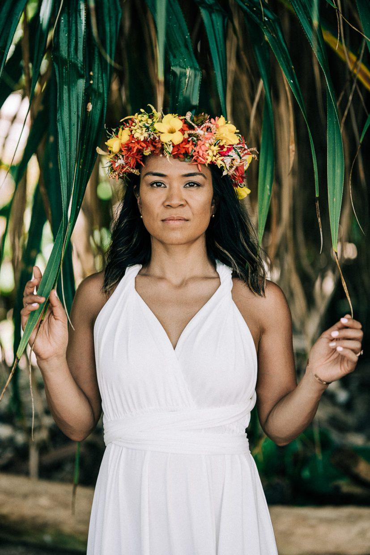 Portrait photography in Bora Bora.