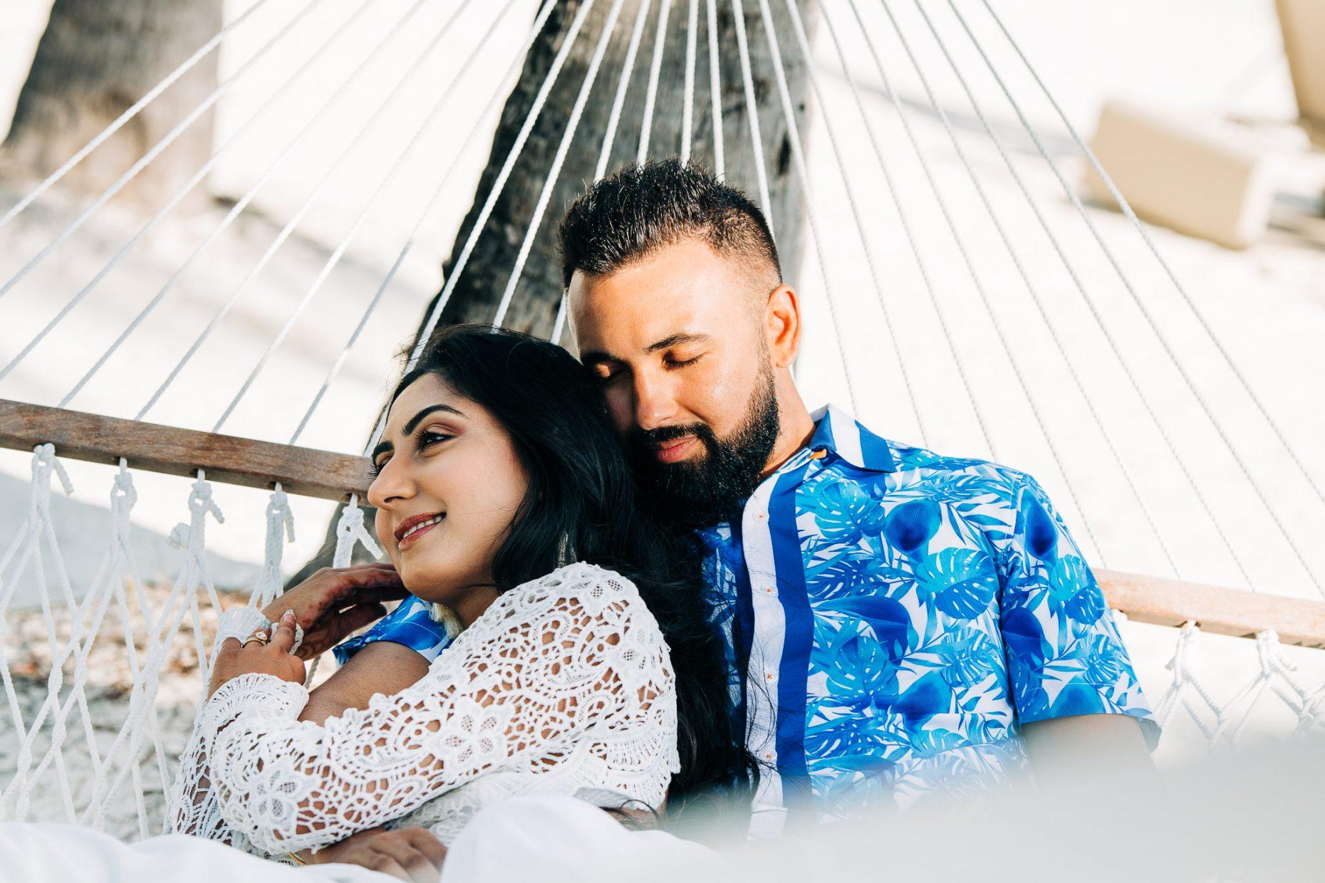 Honeymoon Photo-shooting at Conrad Bora Bora Nui.